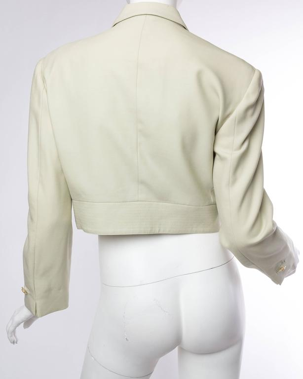 Women's Gianni Versace Couture Pastel Medusa Button Jacket For Sale