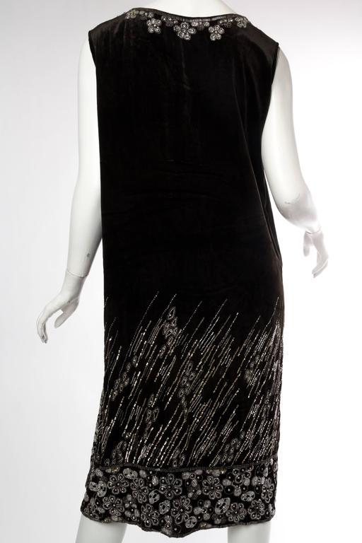 1920s Art Deco Beaded Velvet Wrap Dress Boho Vest With