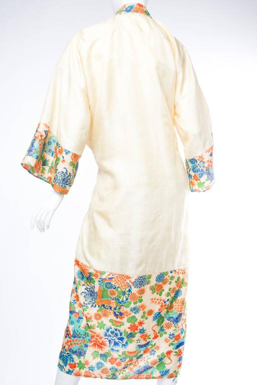 Women's 1920s Silk Dressing Kimono For Sale
