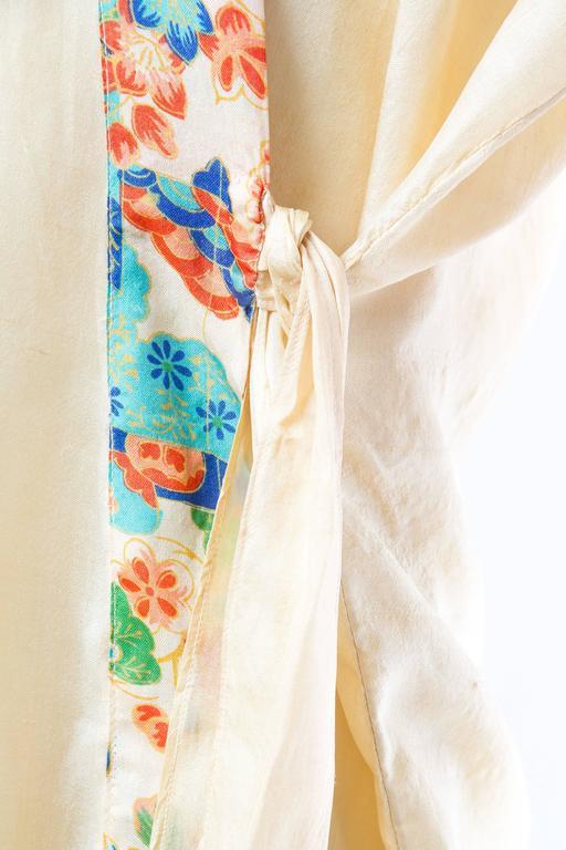 1920s Silk Dressing Kimono For Sale 3