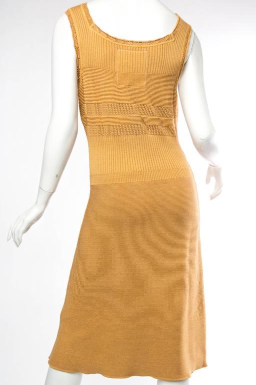 Margiela Cotton Knit Dress For Sale 1