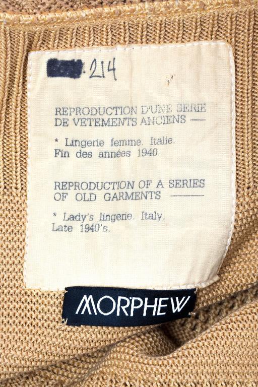 Margiela Cotton Knit Dress For Sale 5