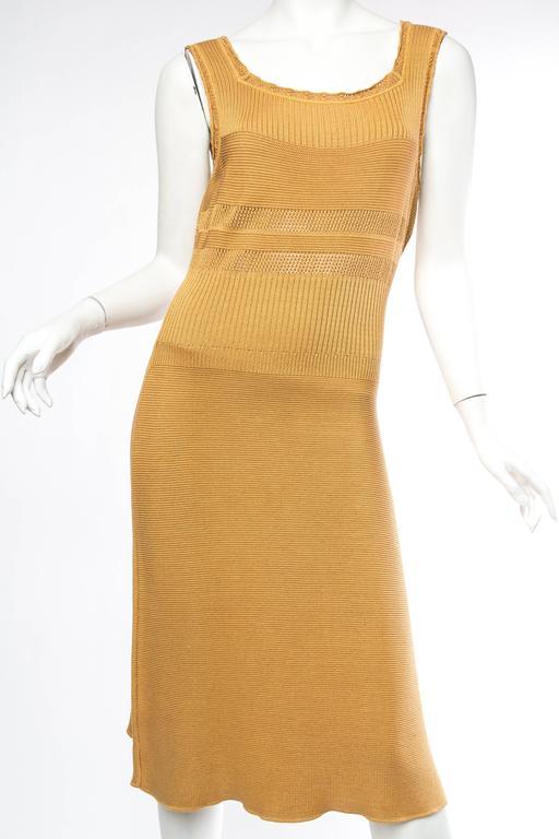 Orange Margiela Cotton Knit Dress For Sale