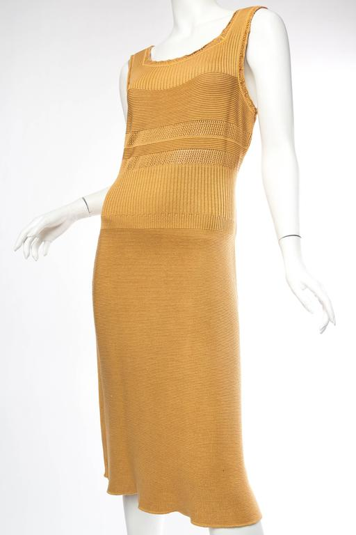 Margiela Cotton Knit Dress In Excellent Condition For Sale In New York, NY
