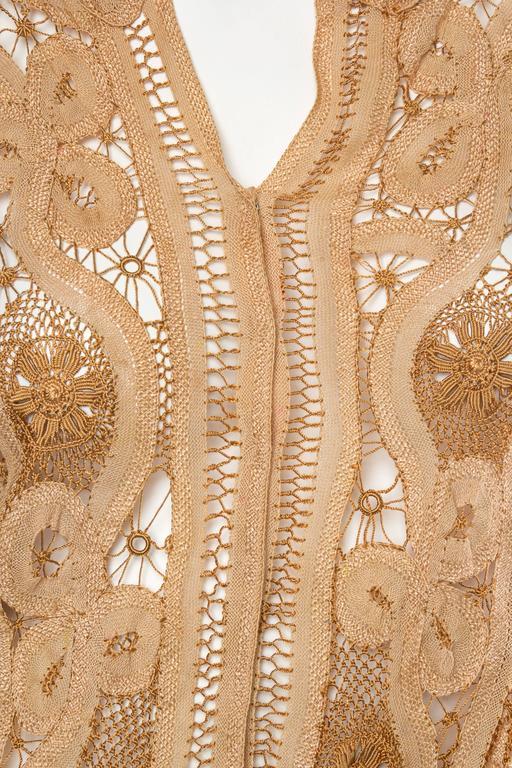 Antique Handmade Lace Blouse For Sale 4