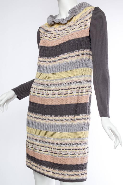 Beige Missoni Sweater Dress For