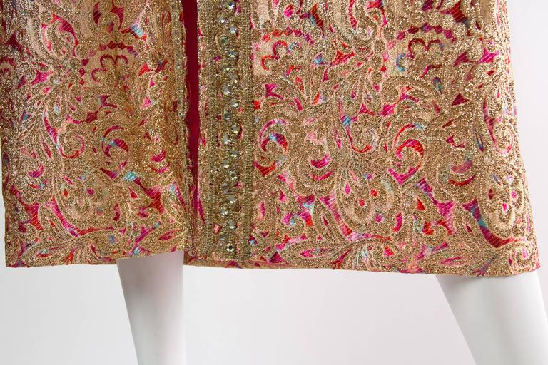 Late 1960s Gold Paisley Dress For Sale 3