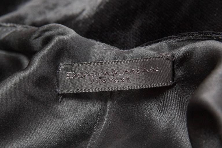 1990s Donna Karan Bias Cut Silk Velvet Gown For Sale 5