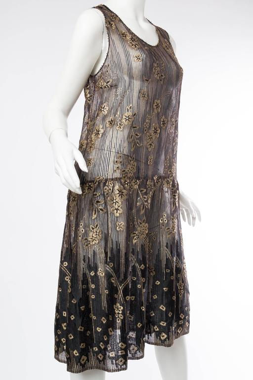1920s Art Deco Lamé Lace Dress & Jacket 7
