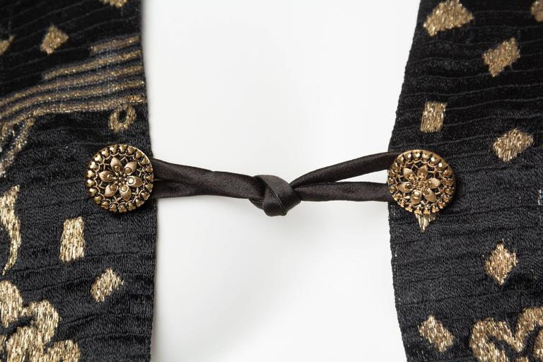 1920s Art Deco Lamé Lace Dress & Jacket 6