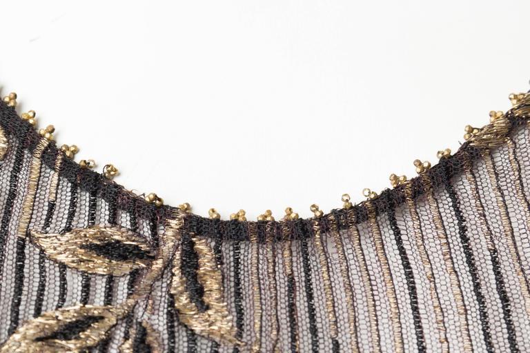 1920s Art Deco Lamé Lace Dress & Jacket 9