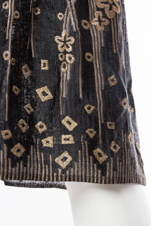 1920s Art Deco Lamé Lace Dress & Jacket 10