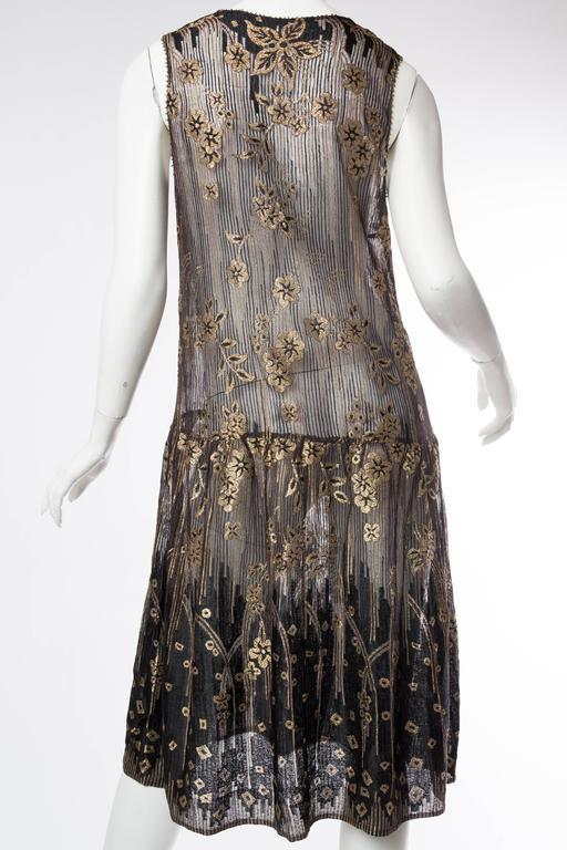 1920s Art Deco Lamé Lace Dress & Jacket 8