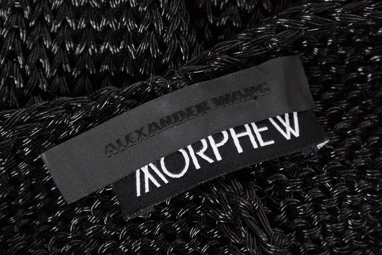 Alexander Wang Metallic Knit Dress For Sale 6