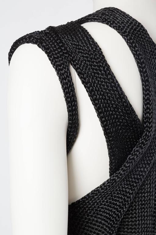 Alexander Wang Metallic Knit Dress For Sale 3