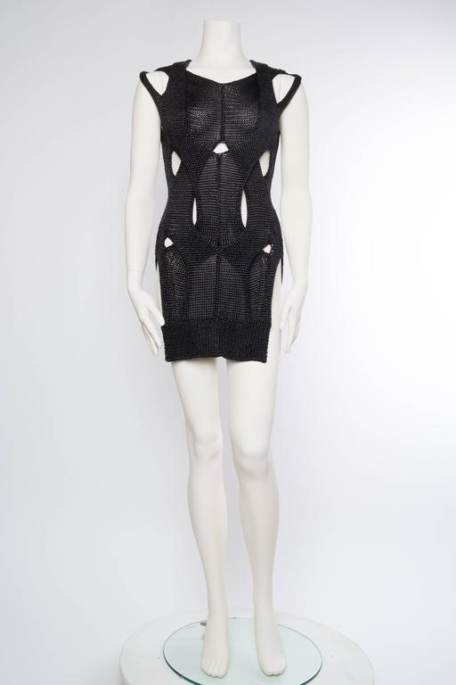 Black Alexander Wang Metallic Knit Dress For Sale