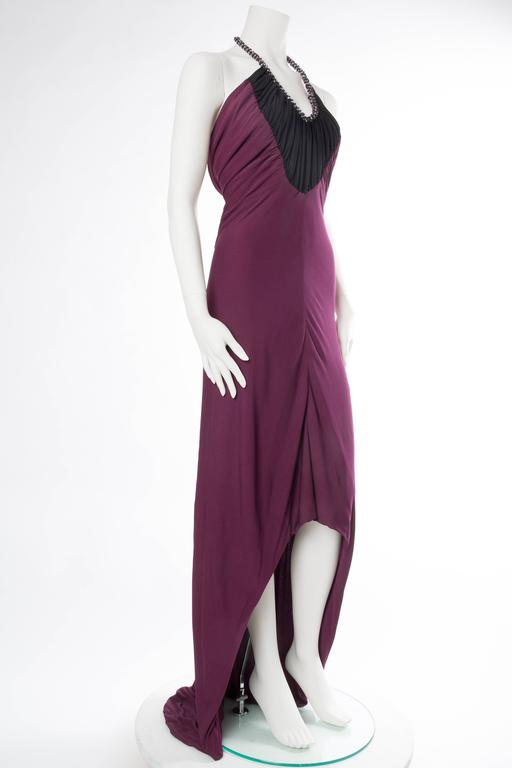 Slinky Azzaro Jersey Gown with Train and Crystals 2