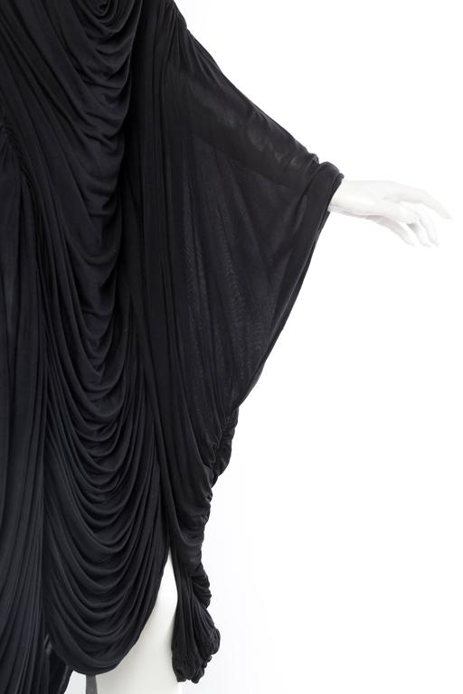 Extraordinarily Rare Very Early Issey Miyake Silk Jersey Dress For Sale 4