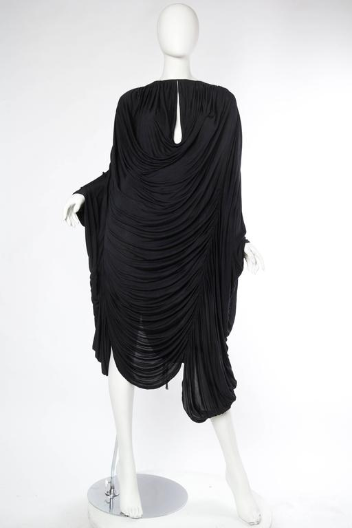 Extraordinarily Rare Very Early Issey Miyake Silk Jersey Dress. Giant and free size for a totally naked feel of freedom of movement.