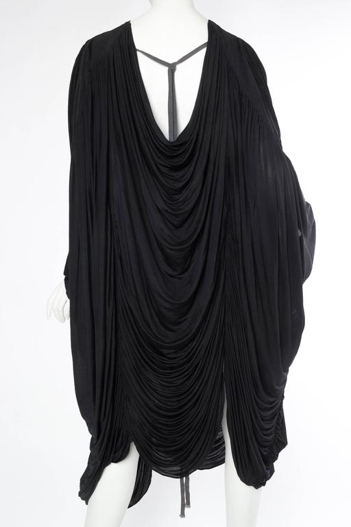 Extraordinarily Rare Very Early Issey Miyake Silk Jersey Dress For Sale 1