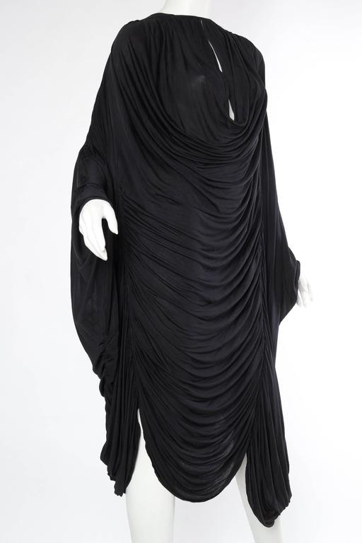 Extraordinarily Rare Very Early Issey Miyake Silk Jersey Dress In Excellent Condition For Sale In New York, NY