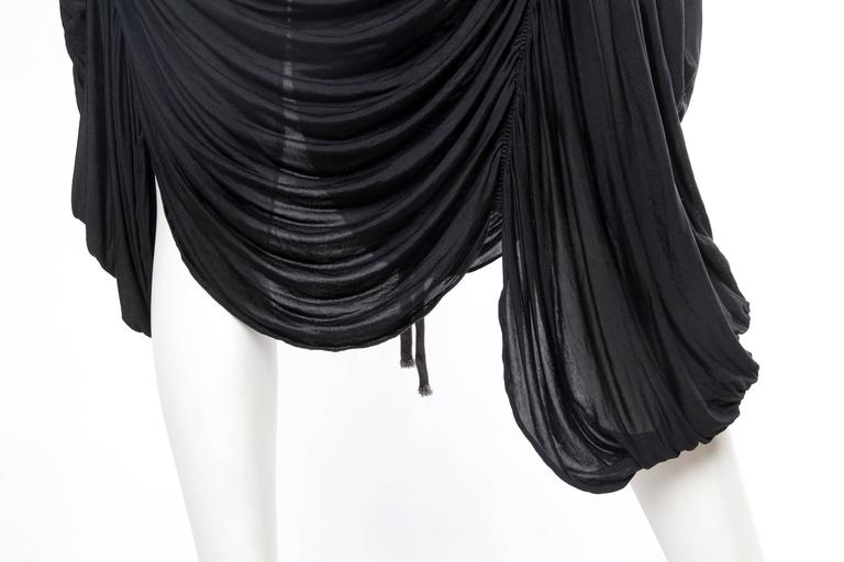 Extraordinarily Rare Very Early Issey Miyake Silk Jersey Dress For Sale 3