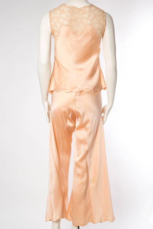 Sensual 1930s Silk Couture Pajamas For Sale 2