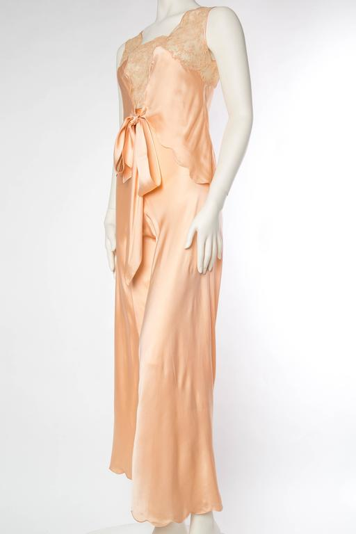 Sensual 1930s Silk Couture Pajamas For Sale 1