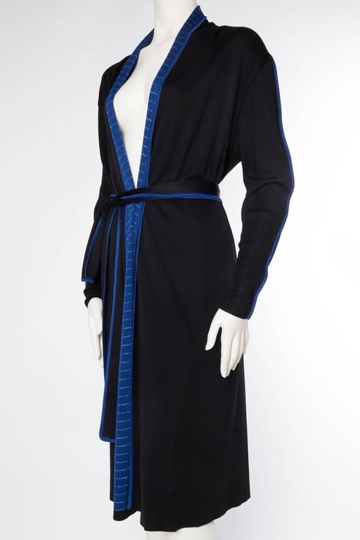 1970s Issey Miyake Jersey Cardigan Dress In Excellent Condition For Sale In New York, NY