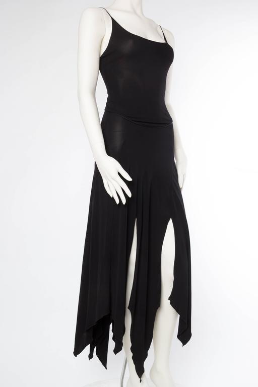 Givenchy Spandex Dancer Style Dress with High Slits In Excellent Condition For Sale In New York, NY