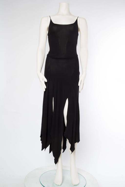 Black Givenchy Spandex Dancer Style Dress with High Slits For Sale