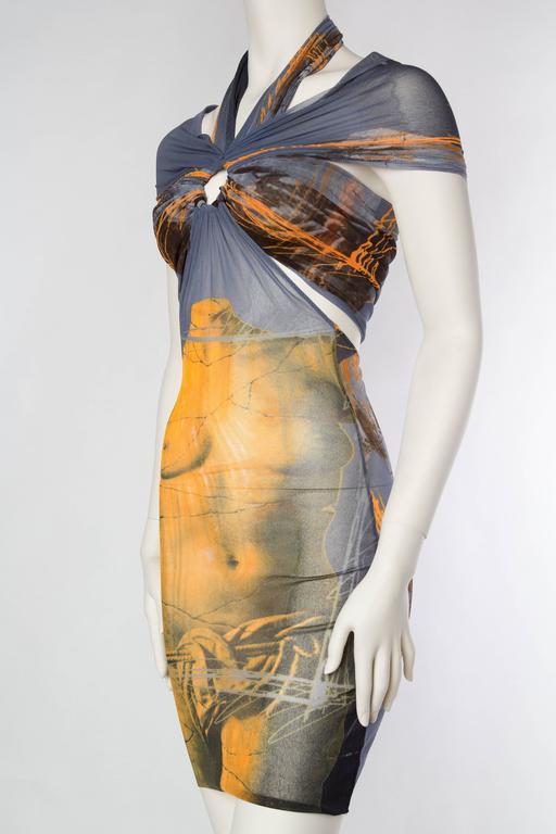 Women's Jean Paul Gaultier Nude Venus Sheer Godess Dress For Sale