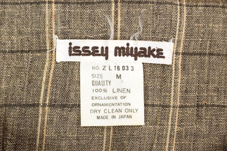 Mens Issey Miyake Linen Shirt For Sale 4