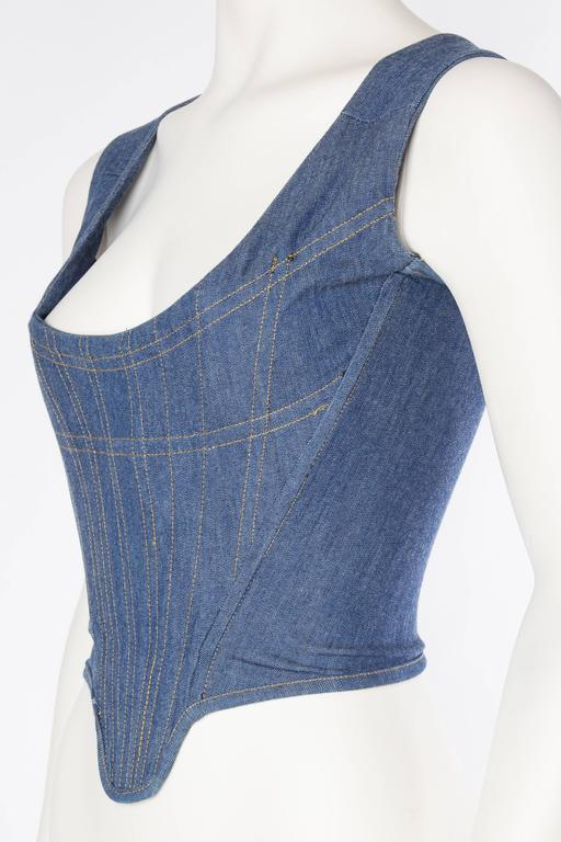Women's Vivienne Westwood Anglomania Denim Corset For Sale