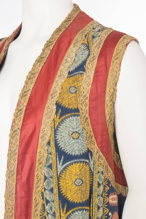 Women's or Men's Persian Inspired Victorian Opera Costume Tunic Vest For Sale