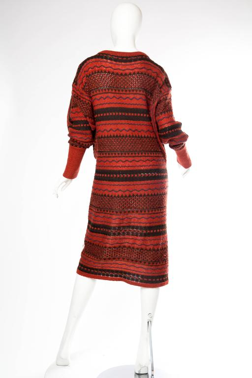 Rare Early Issey Miyake 1970s Knit Sweater Dress For Sale 2