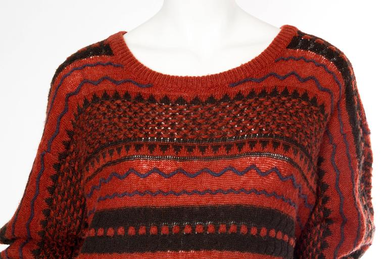 Rare Early Issey Miyake 1970s Knit Sweater Dress For Sale 3