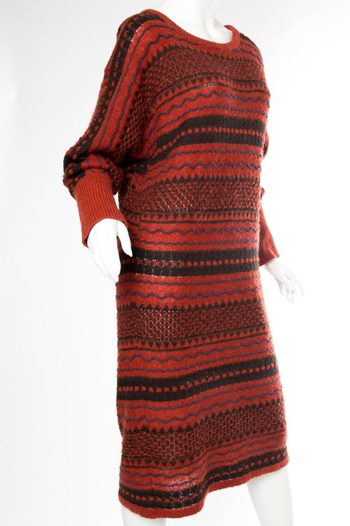 Rare Early Issey Miyake 1970s Knit Sweater Dress In Excellent Condition For Sale In New York, NY
