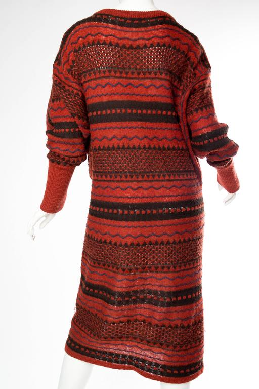 Rare Early Issey Miyake 1970s Knit Sweater Dress For Sale 1