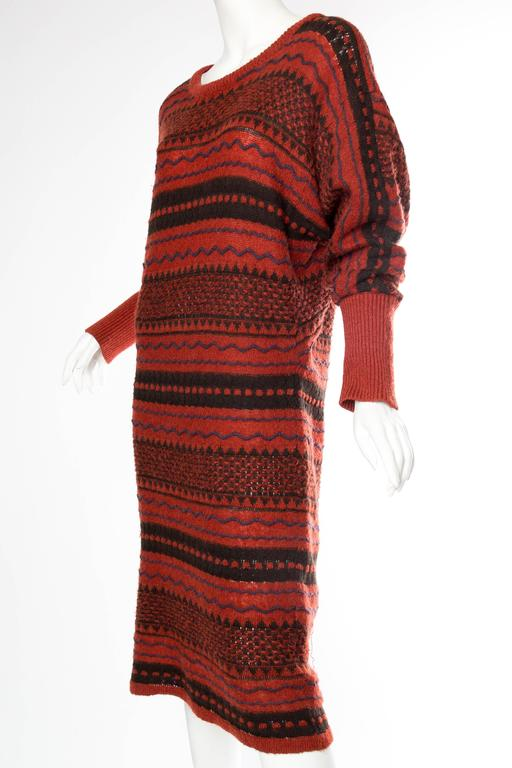 Women's Rare Early Issey Miyake 1970s Knit Sweater Dress For Sale
