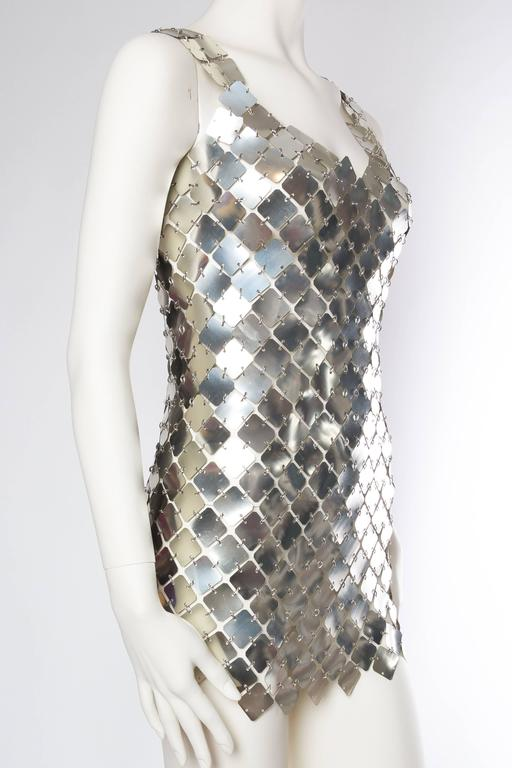 Paco Rabanne Attributed Silver Disk Dress 3