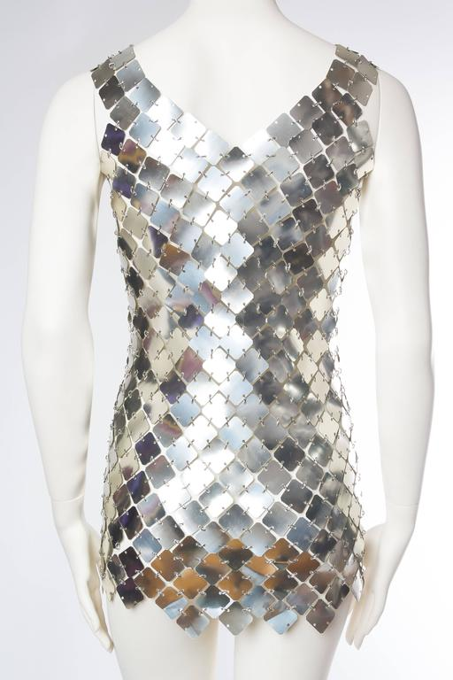 Paco Rabanne Attributed Silver Disk Dress 5