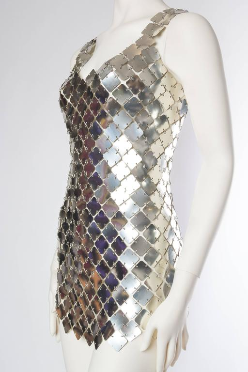 Paco Rabanne Attributed Silver Disk Dress 4