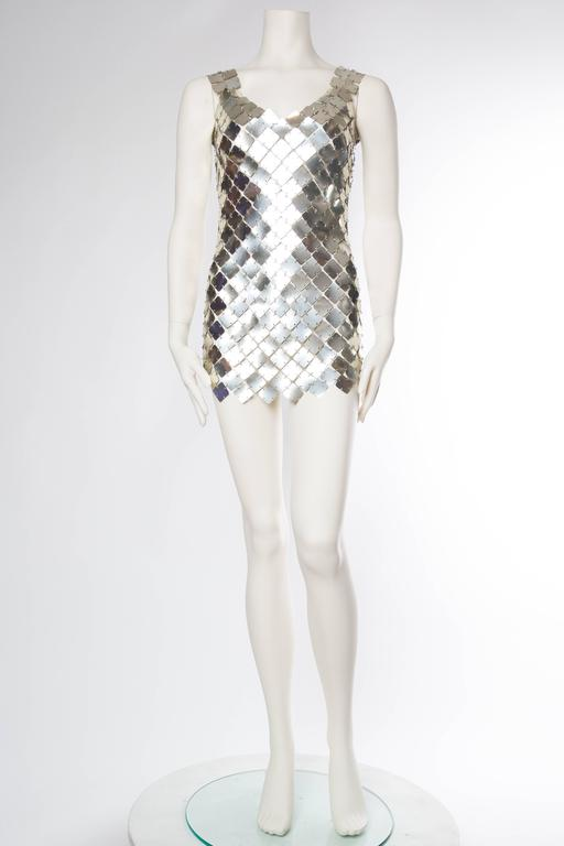 Paco Rabanne Attributed Silver Disk Dress 2