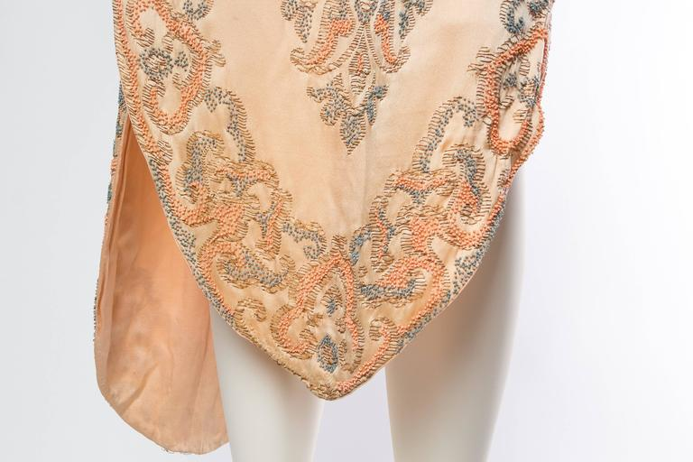Late Edwardian Beaded Silk Dress 8
