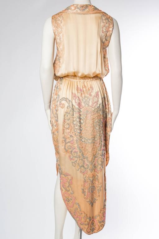 Late Edwardian Beaded Silk Dress 5
