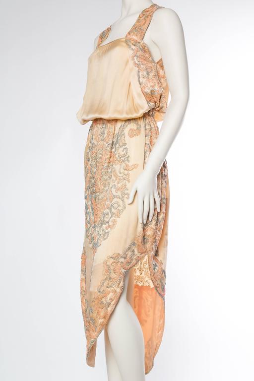 Late Edwardian Beaded Silk Dress 4