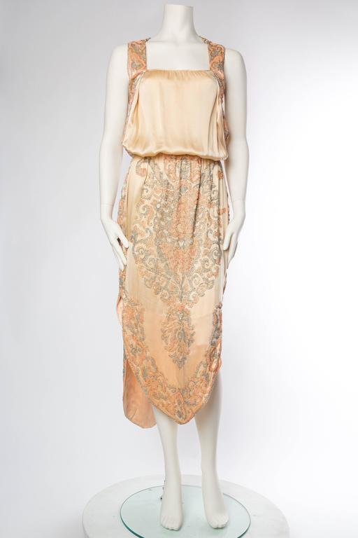 Late Edwardian Beaded Silk Dress 2
