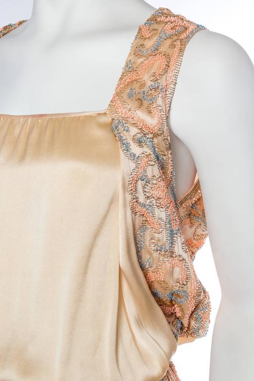Late Edwardian Beaded Silk Dress 7