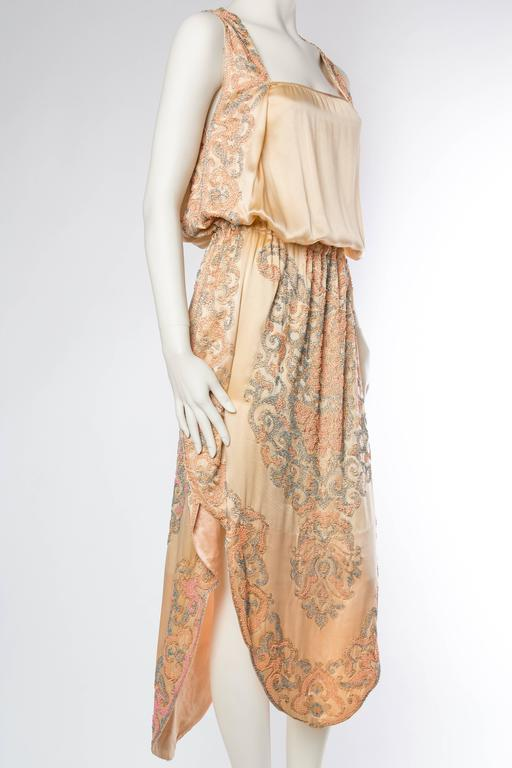 Late Edwardian Beaded Silk Dress 3
